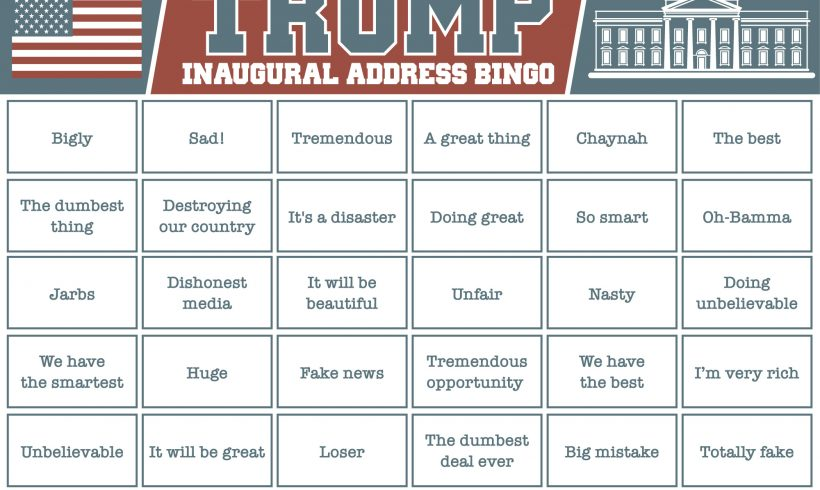 Trump Bingo: We have the best!